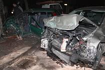 Autonehoda na křižovatce ulic Tyršova a Riegerova