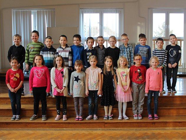 Základní škola ve Velimi: třída 1.Ave školním roce 2019/2020.