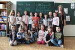 1. A Základní školy Miloše Šolleho v Kouřimi s učitelkou Pavlou Hrstkovou, třídní učitelkou je Iva Křížková