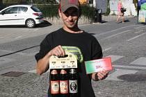 Michal Váša z Týnce nad Labem vyhrál karton pivo značky Rohozec a poukázku do kolínské pizzerie Marylin.
