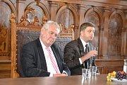 Miloš Zeman zavítal na kolínskou radnici a na náměstí