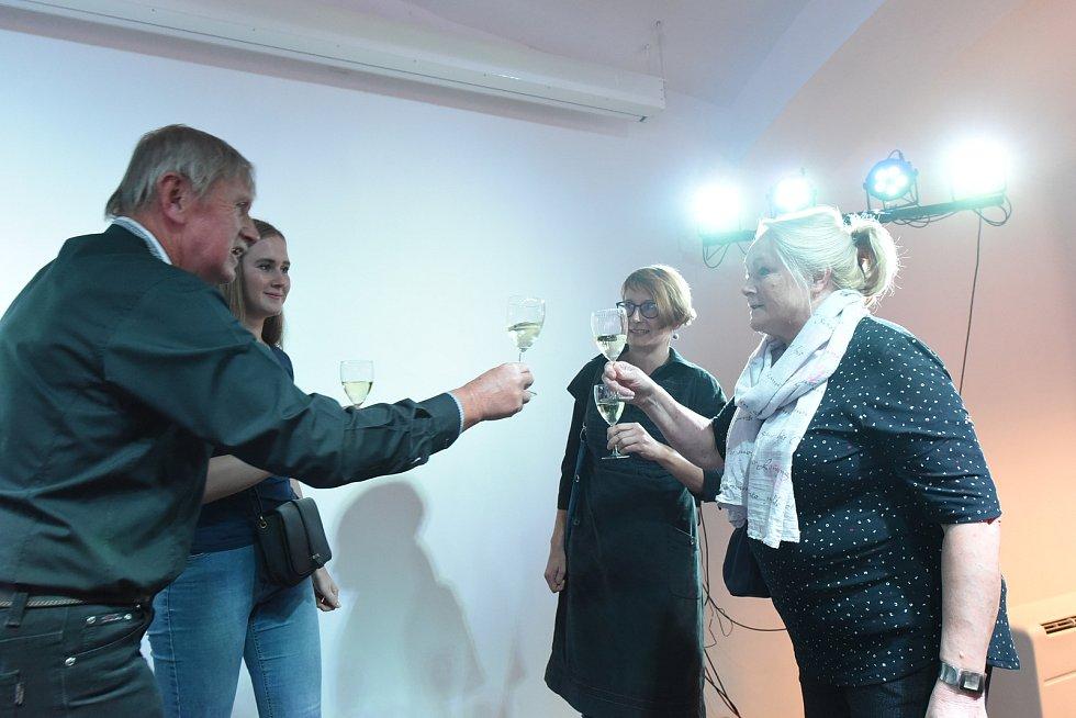 Hodně zaplněný sál podnikatelského inkubátoru Cerop vkolínském zámku byl svědkem vernisáže výstavy obrazů, kreseb a keramiky kolínského výtvarníka a kulturního aktivisty Pavla Rajdla nazvané Ohlednutí.