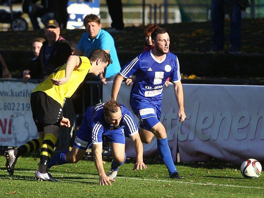 Z utkání FK Kolín - Vysoké Mýto (2:3).
