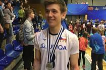 Šimon Kubrycht se stříbrnou medailí z ME do 18 let.