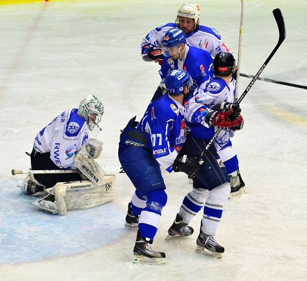 Z utkání semifinále play off, Tábor - Kolín 2:3