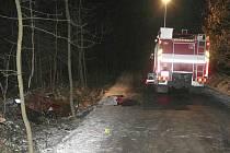 Smrtelná dopravní nehoda u Hradešína