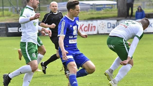 Z utkání FK Kolín - Velké Hamry (5:2).