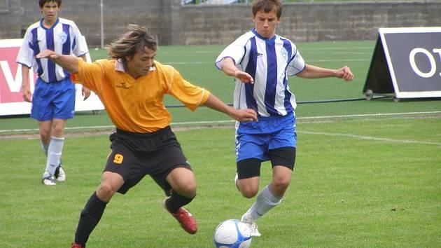 Z utkání mladšího dorostu Čáslav - FK Kolín (1:4).