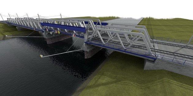 Vizualizace nového železničního mostu.