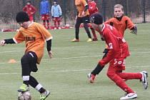 Z utkání FK Kolí U13 - FK Pardubice (6:13).