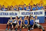 Kolín, atleti - vítězný tým ze středočeských přeborů.