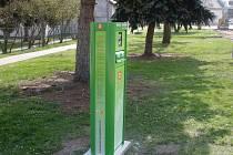 Dobíjecí stanice na elektromobily v Cerhenicích