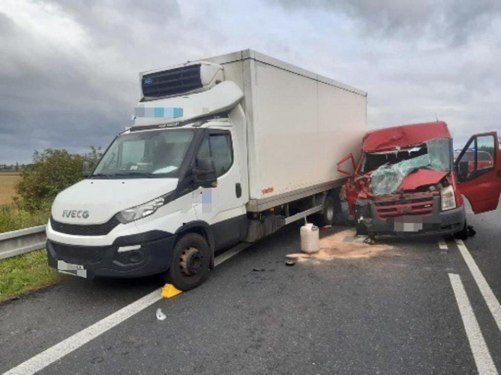 Dopravní nehoda na silnici I/38 v Nové Vsi I.