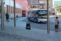 Autobusové nádraží Kolín, srpen 2018