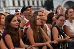 Hosté Kolínského kulturního léta na koncertě zpěváka Marka Ztraceného na Karlově náměstí.