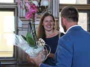 Přijetí Kateřiny Šafránkové na kolínské radnici