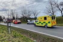 Dopravní nehoda dvou osobních automobilů u Sibřiny.