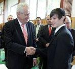 Prezident Miloš Zeman navštívil svůj rodný Kolín.