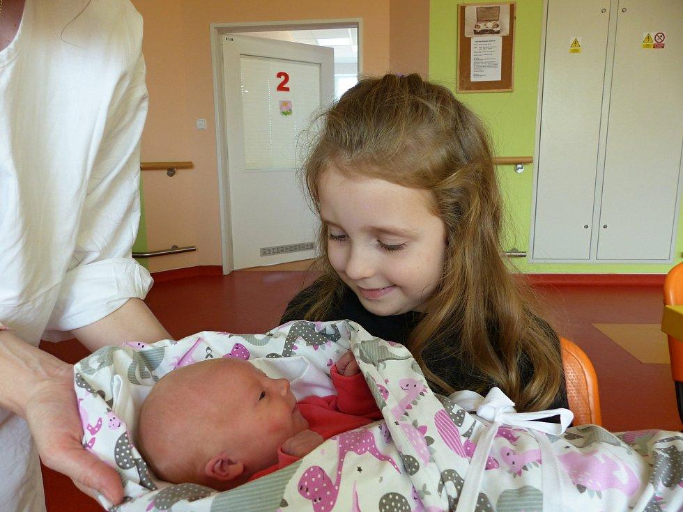 Sára Šichová  se narodila 31.10.2018 s mírami 3040 g a 49 cm. V Uhlířských Janovicích se na ni těší sestřička Karolína (6) a rodiče Šárka a Petr.