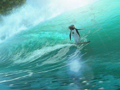 Snímek z animovaného filmu Divoké vlny.