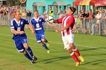 Z utkání Jirny - FK Kolín (2:0).