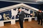 Z vernisáže výstavy 'Nejen nepřátelé s podtitulem Staří Řekové a jejich sousedé' ve Dvořákově muzeu pravěku v Kolíně.