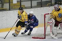 Z hokejového utkání druhé ligy Kolín - Benešov (4:7)