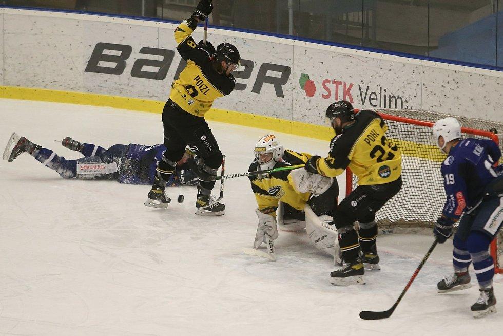 Hokejové utkání mezi domácím Kolínem a Sokolovem se hrálo v pondělí 1. února 2021.