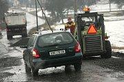 Situace na zásmucké objížďce po opravě silnice