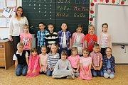 1. B Základní školy Miloše Šolleho v Kouřimi s třídní učitelkou Lenkou Zahradníčkovou