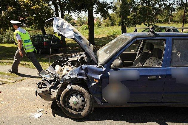 Dopravní nehoda v obci Poďousy, 20.8.2009