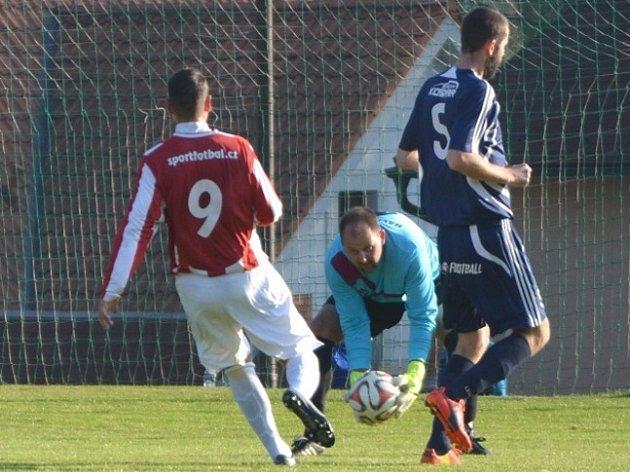 Z utkání Jevany - Kouřim (0:0, PK 4:3).