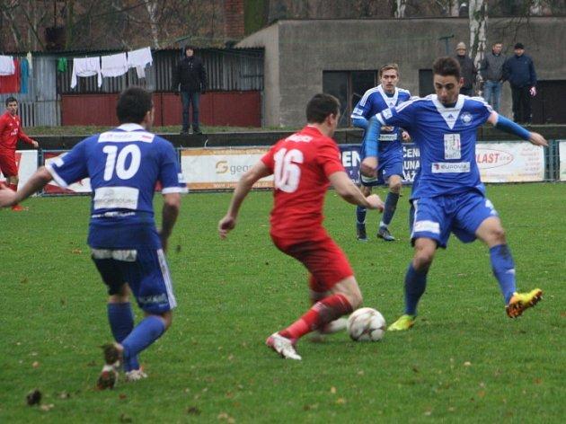 Z utkání FK Kolín - Králův Dvůr (1:1, PK 8:9).