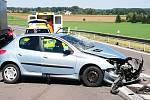 Dopravní nehoda na silnici I/38 mezi Kolínem a Novou Vsí.