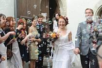 Svatba Elišky Šerákové a Tomáše Tesaře