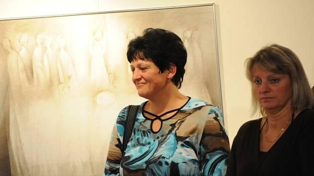 V galerii Základní umělecké školy vystavují čtyři její pedagogové