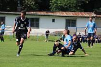 Z přípravného fotbalového utkání Kolín - Úvaly (1:1)