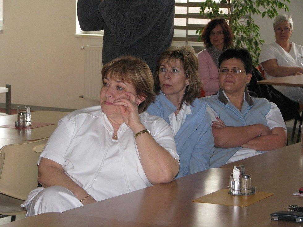 Setkání zaměstnanců nemocnice se zástupci kraje