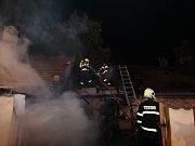 Požár rodinného domu v Ratenicích.