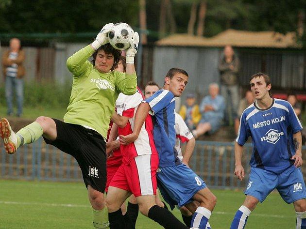 Z pohárového utkání FK Kolín - Vlašim B (1:2).