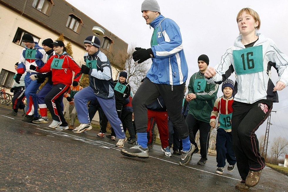 Silvestrovský běh ve Veltrubech