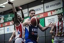Druhé utkání čtvrtfinálové série BC Kolín - Pardubice (103:95).