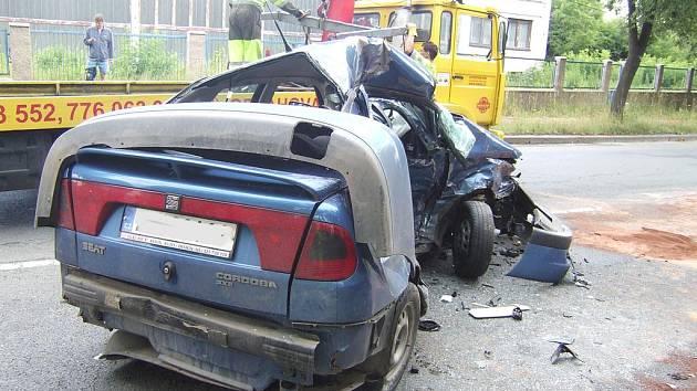 Vážná nehoda v Třídvorské ulici, 9.7.2009