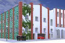 Vizualizace budoucího parkovacího domu v Cerhenicích