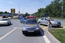 Dopravní nehoda u Lidlu v Kolíně, červenec 2009