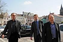 Z návštěvy ministra Kalouska v Kolíně