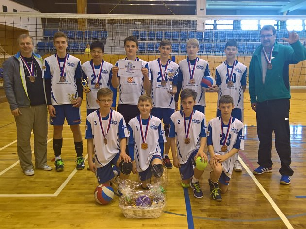 Volejbaloví žáci mají bronz, jsou třetí nejlepší v Česku.