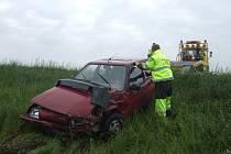 Dopravní nehoda na I/12 u odbočky na Vitice, 12.5.2009