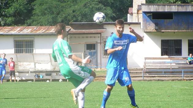 Z utkání fotbalového staršího dorostu Kolín U19 - Olympia Hradec Králové U19 (1:2)