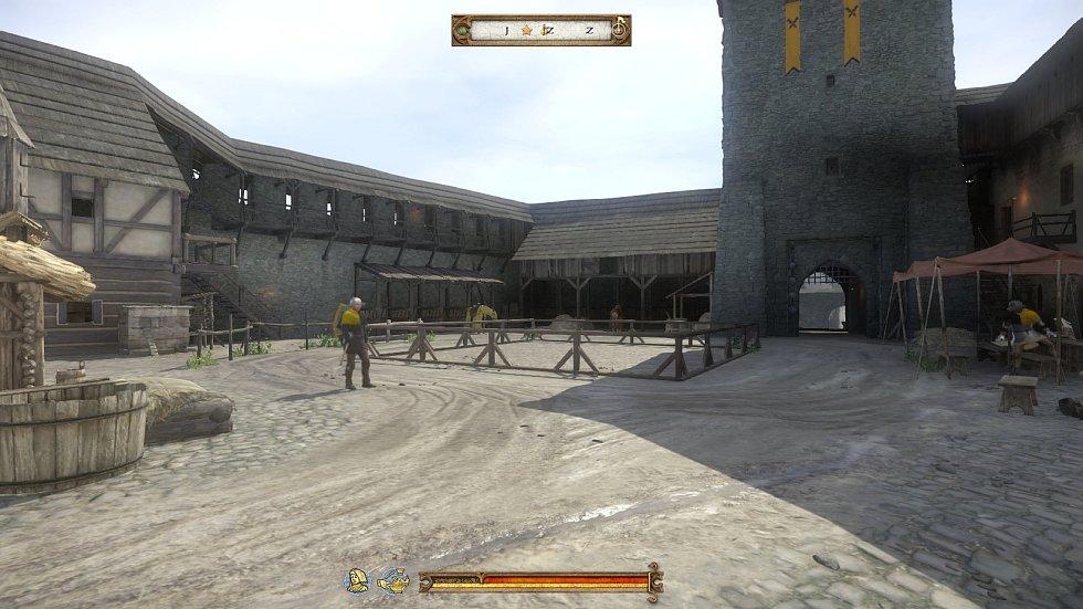 Zámek v Ratajích nad Sázavou pohled ze hry